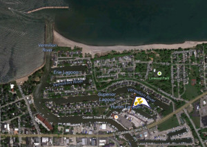 Location with Harbor Entrance (Img Src: Google Maps)